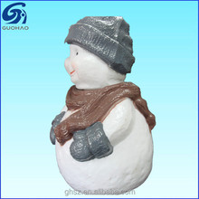 high quality snowman shaped ceramic cookie jar