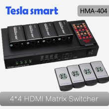 Tesla Smart 4 In 8 Out HDMI Matrix Extender over UTP Cat5e/6 Cable up to 60m HDMI Matrix 4x4 with RS232
