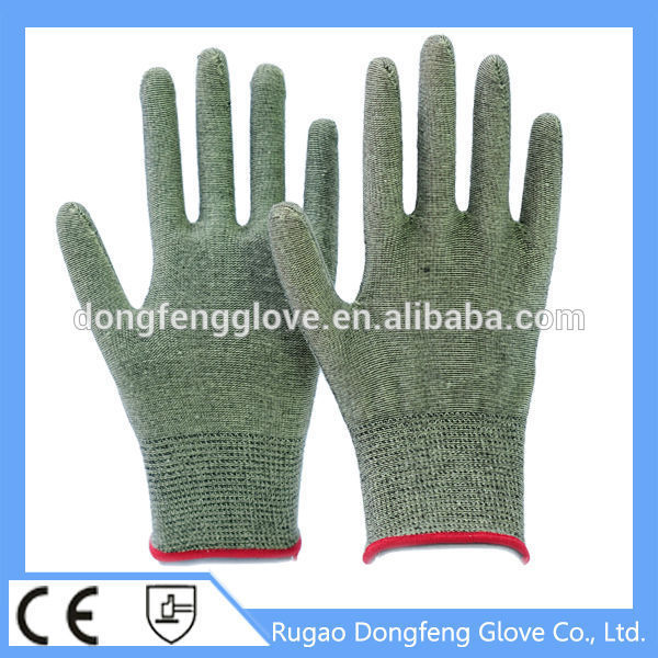 Seamless Knitted Aramid & Spandex Fiber Cut & Heat Resistant Work Gloves From China