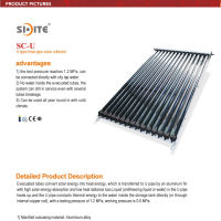 2013 new U pipe high effiency CPC reflector solar water collector