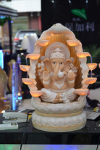 Ganesh water fountain with led flowing water fountain decoration