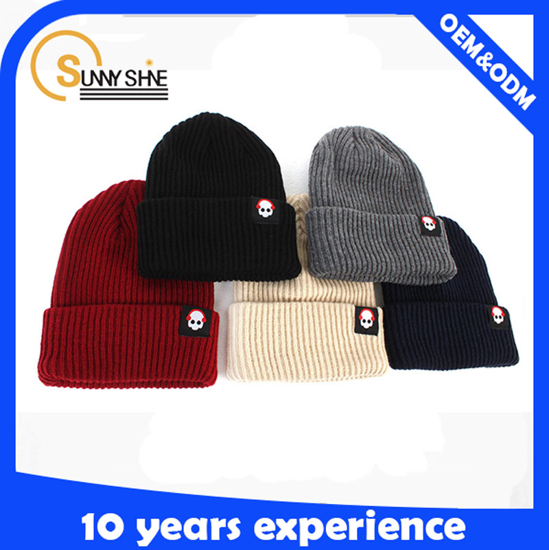 Promotion High Quality 100% Wool Knitted Beanie Hat