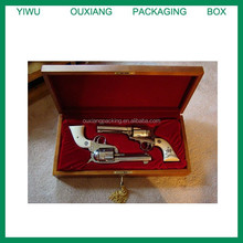 piano red lacquer finish luxury wooden gun packing box