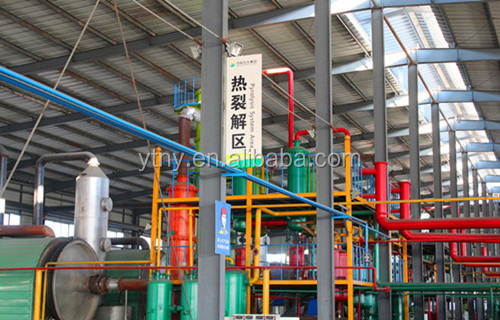 Best choice used tyre to fuel oil recycling plant, waste tyre pyrolysis plant from China