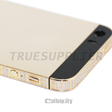 Luxury for iphone 5 rose gold diamond housing 24k limit edition