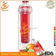 800ml wholesale clear fruit water with custom logo