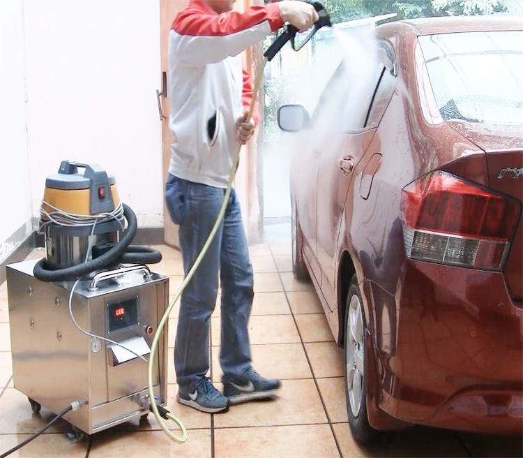 car interior steam vacuum wash