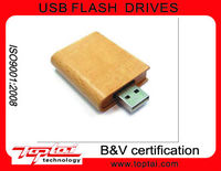 Novelty from China Custom Memory Card OEM Popular 16GB Wooden Book USB Flash Drive