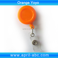 Orange yoyo 32mm diameter card clip