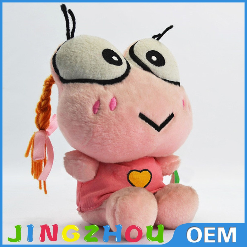 2015 OEM Creative Stuffed Plush Pink Plush Toy Frog