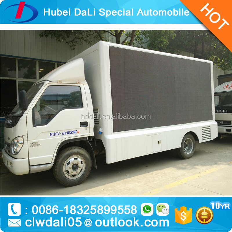 FOTON New Design outdoor led mobile advertising screen truck in ali for sale