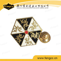 promitional custom zinc alloy metal badge