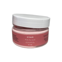 private label OEM Natural organic ROSE SMELL Exfoliating Pink Mud Mask