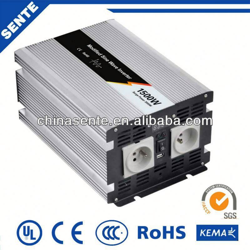 1500w modified sine wave car power inverter 150w dc12v ac220v with PWM/MPPT charge controller