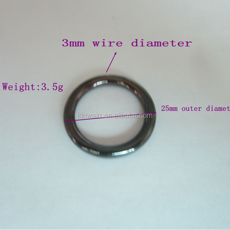 Handbag fitting metal zinc alloy o ring with high quality for wholesale