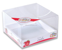 PVC PET Clear box packaging with printing for food