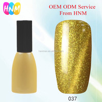 HNM # CE037 Top Factory make your own brand name Cat Eye 10ml UV Gel Polish