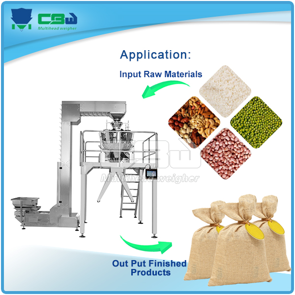 puffed food crispy rice ,potato chip ,prawn crackers packaging machine with 11 heads multihead combination weigher for wholesale