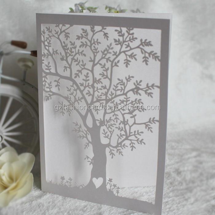 elegant tree laser cut wedding invitations, elegant tree laser cut, Wedding invitations