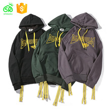 Wholesale Yellow Zipper Knitted Cotton Hoodies