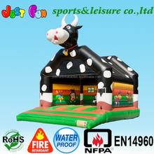 lovely large inflatable cow bouncer for sale