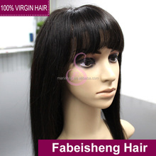 Human hair lace front wigs and full lace wigs with bangs human hair extensions