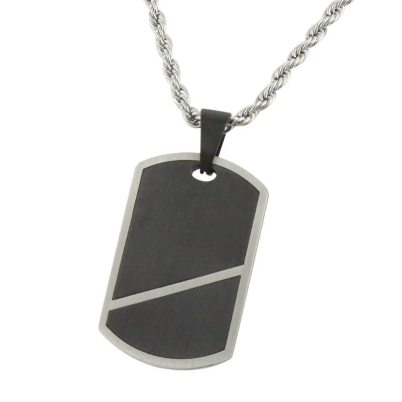 2016 Hot sale simple design coffee color & steel fashion custom stainless steel pendant