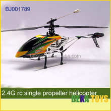 Hot selling 2.4G 4 channel big black rc single propeller helicopter
