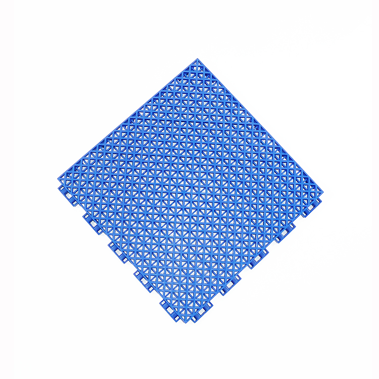 High quality and cheap price PP interlocking double layer outdoor basketball sport court tile