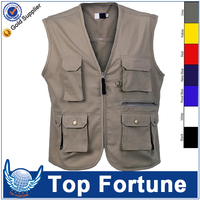 mens cotton canvas work vest,work clothes vest