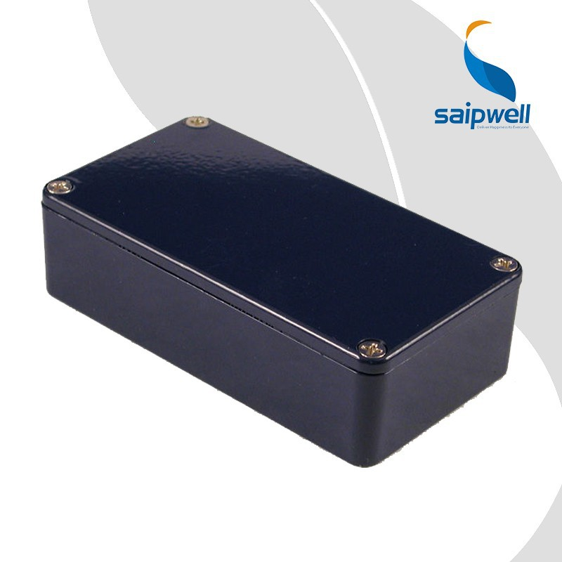 SAIP/SAIPWELL 1590B Electrical Box Cobalt Blue Rectangle Aluminium Box