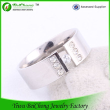 Latest design italian crystal diamond wedding rings for men's silver rings J4-0061