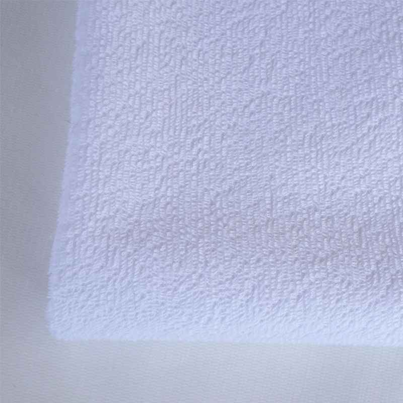 White Waterproof Cotton Polyester Heavyweight Terry Cloth Fabric
