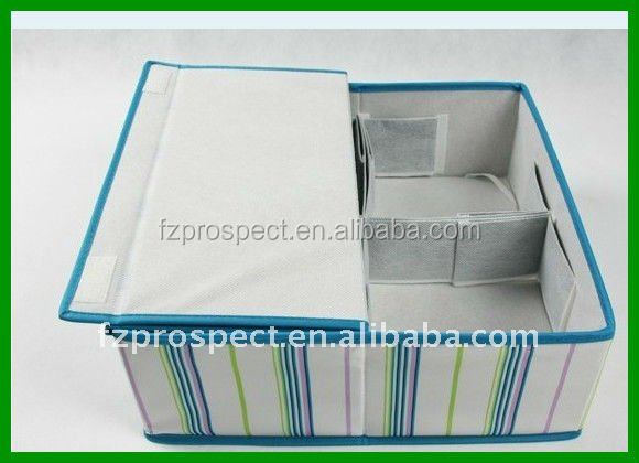 Best selling portable dustproof decorative multipurpose storage box with open front