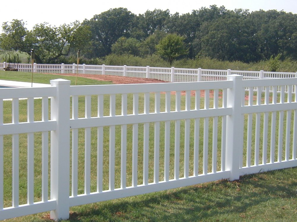 White PVC Fencing, Terrace Fence