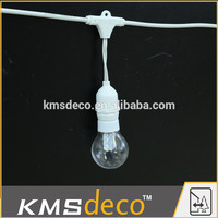 Commercial connectable outdoor incandescent light bulb patio string light