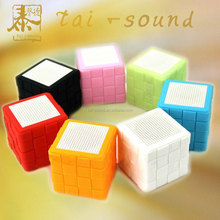 2016 Made in China Rubik's cube wireless bluetooth music fantasy color speaker selfie for mobile phone