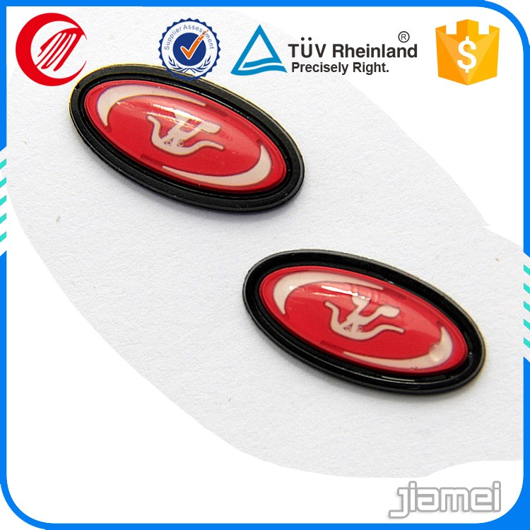Embossed label sticker/Jeans 3D silicone rubber label logo