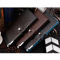 Luxury Vertical business casual wallet Men Purse PU Leather Male Wallet Pouch Buckle Man Long Wallets
