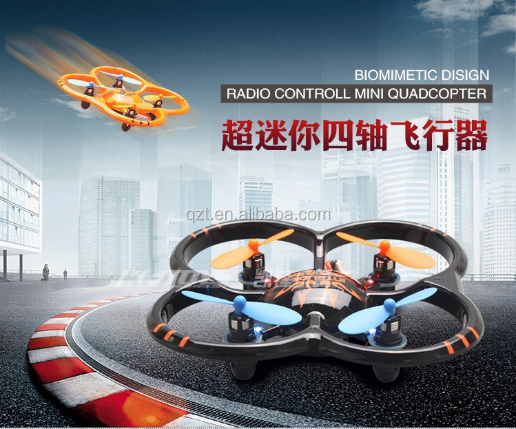 U207 RC Helicopter 6 Axis Gyro 4CH Radio Control mini Quadcopter UFO model aircraft with LED Lights