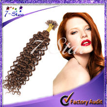 Brazilian Virgin Human Hair full cuticle cheap 6a top quality pro-bonded nail hair extensions