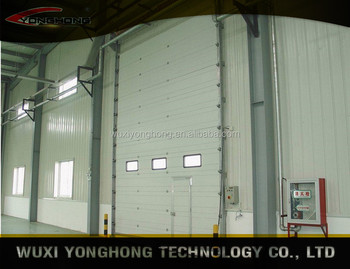 Manual or electric operation sectional industrial door
