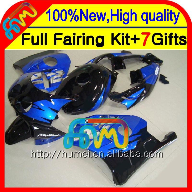 Body For HONDA BLUE Injection CBR250RR MC22 90-99 CBR 250RR 17CL15 CBR250 RR 90 91 92 93 94 95 96 97 98 99 Blue black Fairing