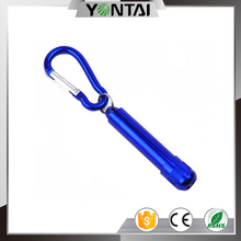 Cheap Light Best Portable Keyring Customized Logo Promotional Carabiner Small Key Ring Mini Led Torch Flashlight Keychain