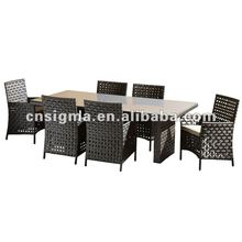 2017 Hot sale taizhou rattan and wicker furniture rattan patio furniture bamboo dinning set