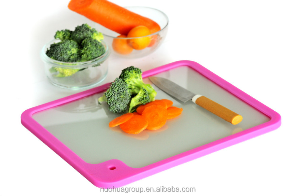 Silicon kitchenware wholesale tempered glass cutting boards