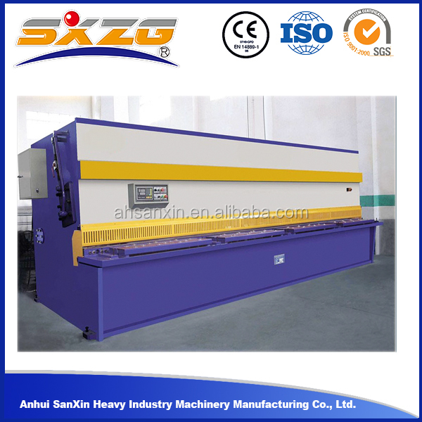Hot sale QC12K 12X3200 portable hydraulic shearing machine , steel plate sheet shearing machine
