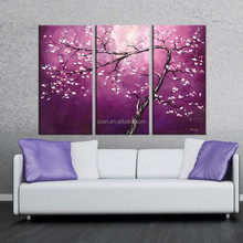 Modern Plum Blossom Flower Group Home Wall Decor Canvas Oil Painting