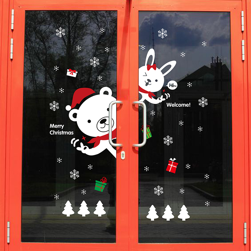 Hot Selling Merry Christmas Wall Sticker/Christmas Wall Decals