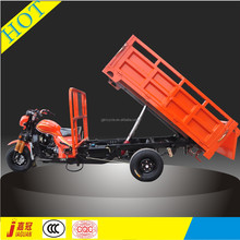 Hydraulic dumping three wheel motorcycle for cargo